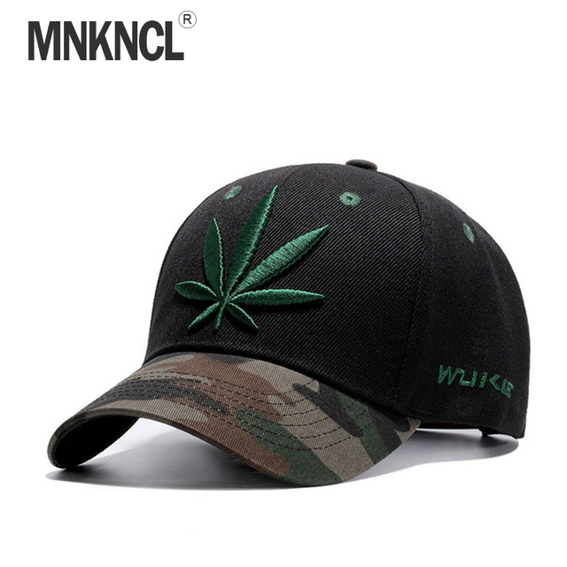 2017 New Fashion Embroidery Maple Leaf Cap Weed Snapback Hats For Men Women  Cotton Swag Hip