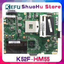 KEFU For ASUS K52F X52F A52F P52F HM55 laptop motherboard tested 100% work original mainboard a1771579a mbx 225 m980 fit for sony vpcec laptop motherboard hm55 mbx225 1p 009cj00 8011