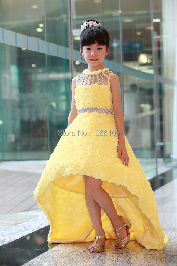 Luxury A Linel Wedding Dress Ball Gown For Kids Performance Clothing