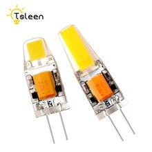Затемнение G4 светодиодный лампочка 12В 3 Вт 6 Вт COB SMD заменить Галогеновый свет пятна светодиодный светильник s светильники