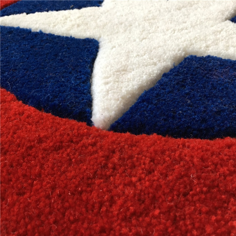 Captain America bouclier Simple moderne tapis rond dessin animé enfants salon table basse chambre tapis lit couverture tapis - 5
