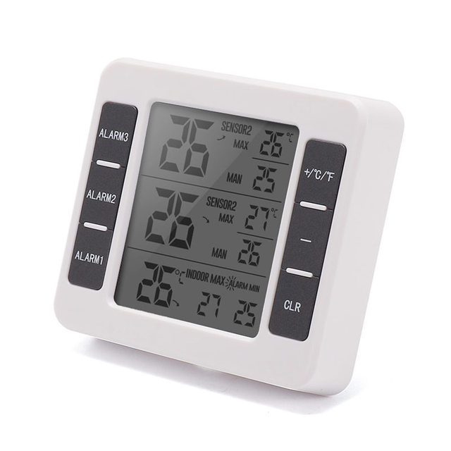 Sh 35 Smart Home Digital Electronic Wireless Indoor Outdoor Temperature Alarm Thermometer With 2