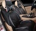 Moonet Car Seat Covers 8 UNIDS Set Hielo Seda PU Tela Cojines de Asiento de Coche Universal para 5 Asientos de Coche
