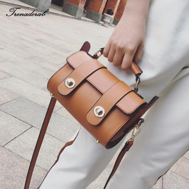 Trenadorab Vintage Retro Tote Women Messenger Bags Small Shoulder Bag High Quality Leather Top-handle bags bolsa feminina SAC велосипед stels navigator 490 md 2016