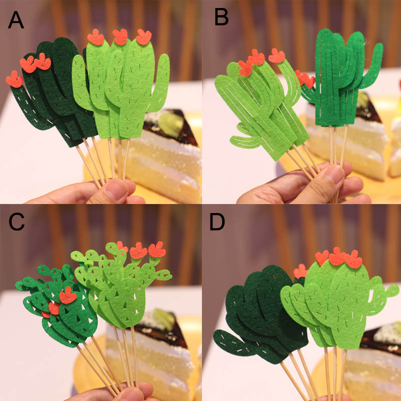 Green Cactus Cake Topper Fruit Picker Summer Theme Party ...