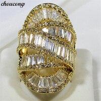 Choucong роскошный большой палец кольцо 925 стерлингового серебра AAAAA cz вечерние Обручальные кольца для мужчин и женщин ювелирные изделия ручной