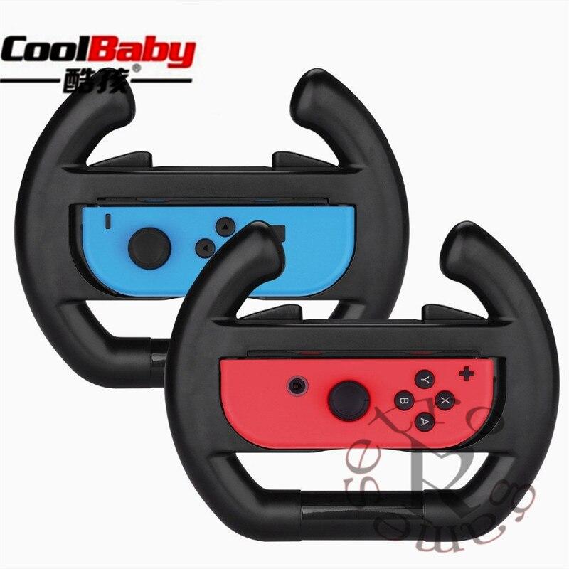 Unids 2 piezas volante Joy-Con para Nintend Switch NS controlador empuñadura de rueda de carreras mango luz versión r20