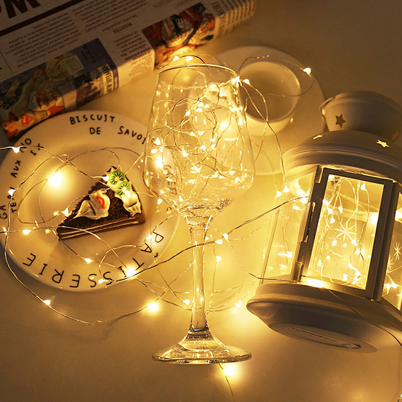 Garland LED String Lights 1M 2M Copper Wire Cork Wine Bottle Home Christmas Wedding Party Holiday Decoration DIY Fairy Light