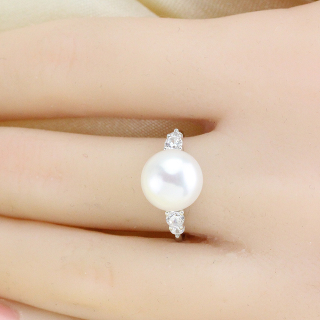 gift real rings finger jewellery design gold love item new pearl women akoya for ring engagement