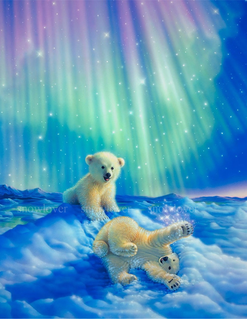 in diamond standing polar bear designs ditz