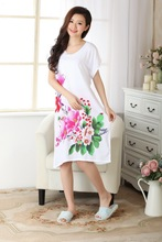 Chinese  Women's Gown Cotton Robe Sleepwear One Size