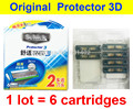 6 pcs/lot AAAAA Original New Package Shick Protector 3d diamond for men razor blade in stock