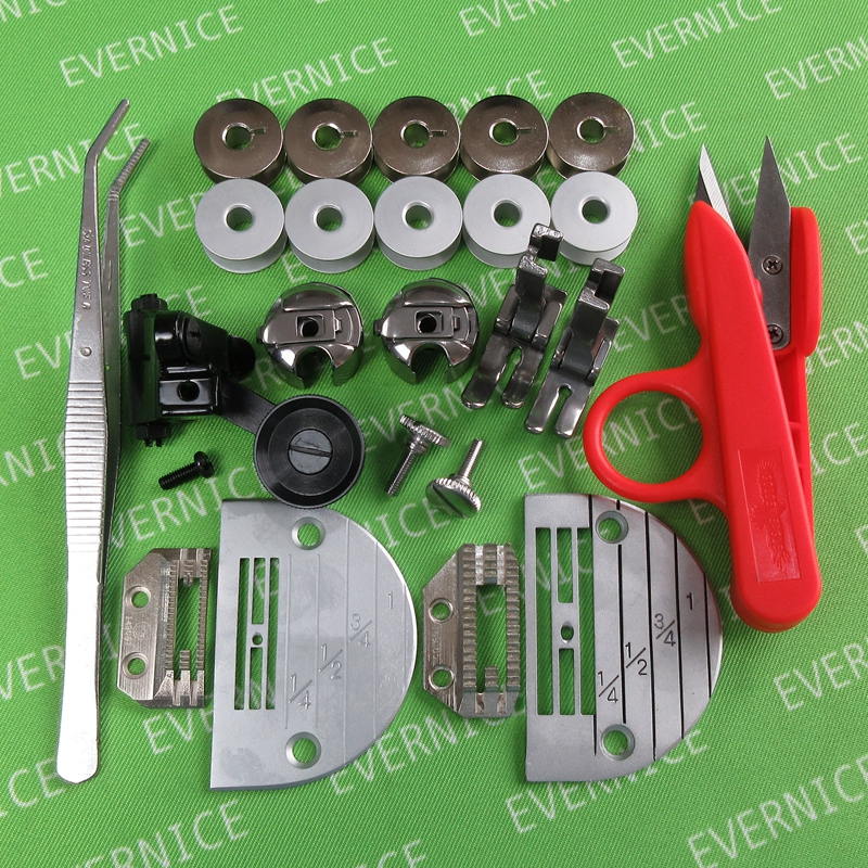 evernice 46 Presser Foot Set for Juki Ddl-5550 8500 8700 9000 Industrial Sewing Machine