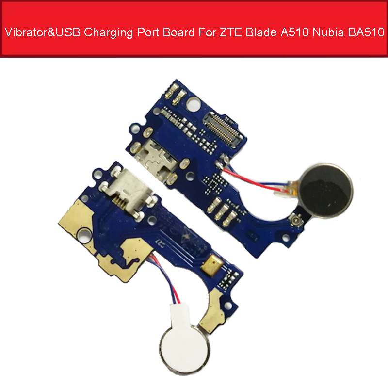 Vibrator & USB Charging Port Board For ZTE Blade A510 Nubia BA510 Charger Dock Connector Board Flex Cable Replacement Parts