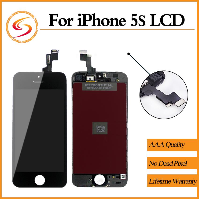 Prix pour Véritable Original 20 PCS/LOT Pour iPhone 5S Écran LCD de Remplacement Avec Tactile Digitizer AAA + + + Assemblée D'affichage Livraison Gratuite