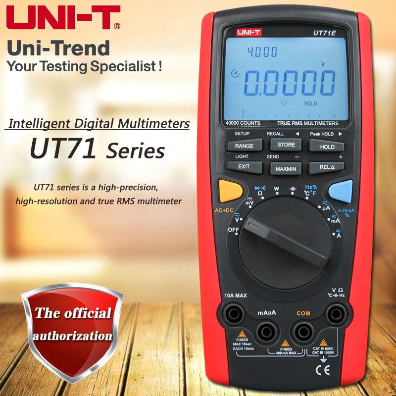 UNI-T UT71A UT71B UT71C UT71D UT71E True RMS Smart Digital Multimeter/USB, Bluetooth/Full Range Overload Protection/Backlight цена