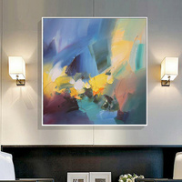 Oil Painting Canvas Original Hand Painted Modern Wall Art Warm Colour Abstract Painting Pictures For Living