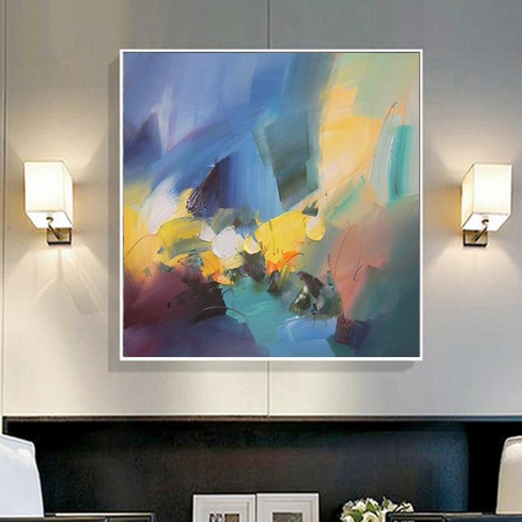Olejomalba plátno Originální ručně malované Moderní nástěnné umění Teplá barva Abstraktní malby Obrazy pro obývací pokoj Domácí dekorace