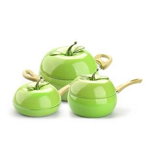 Image 3 - מכירה לוהטת פירות מחבת בישול סיר צבע סיר קרמיקה מחבת גריל מחבת אינדוקציה כיריים גז אלומיניום כלי בישול זרוק חינם