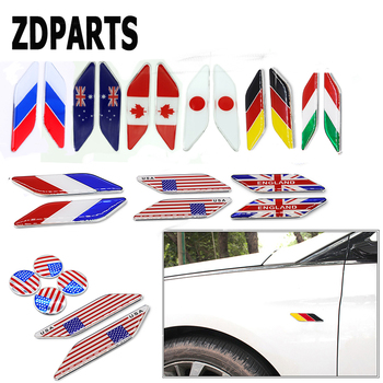ZDPARTS 2X Car styling Flag Window Fender Door Side Stickers For BMW E46 E39 E60 E90 E36 F30 F10 X5 E53 E34 E30 Mini Cooper Lada image