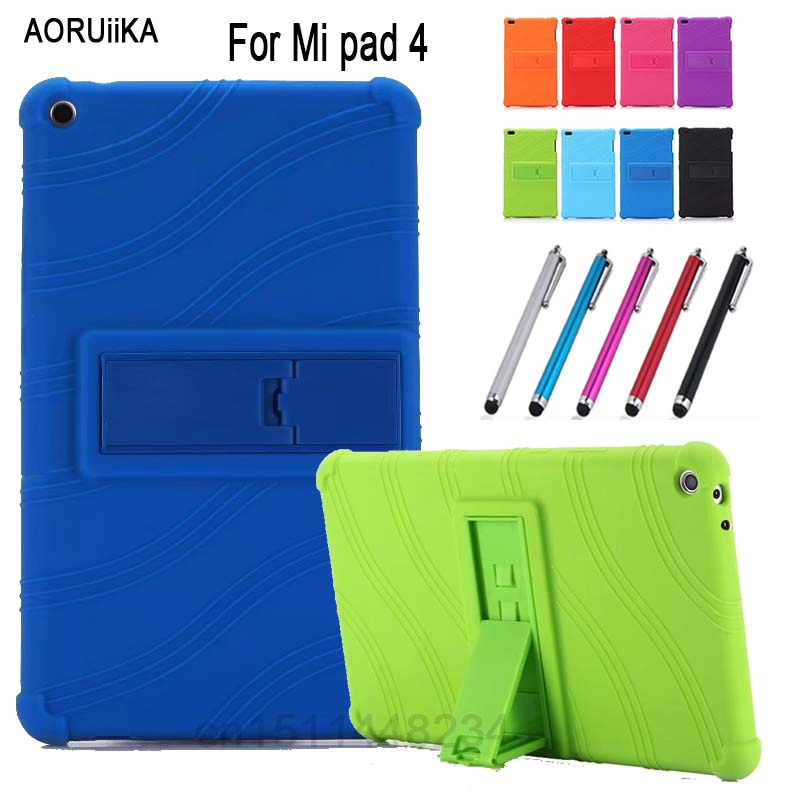 AORUIIKA For Xiaomi Mi pad 4 Mipad 4 8.0 Tablet case cover, child baby Thickening Shockproof Back cover Silicone Stand case skin original oneplus 2 silicone case pc cover skin case battery cover