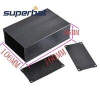 2 20 X4 17 X6 30 Black Big Extruded Aluminum Project Junction Box Enclosure Case For