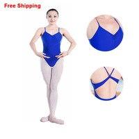 Adult Summer Sleeveless Cotton Spandex Bodysuit Ladies Girls Open Back Ballet Gymnastics Leotards Dance Clothing For