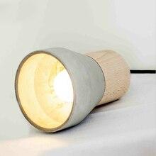 JAXLONG Nordic Modern Creative pendant lamp lustre Restaurant hangling lamp Bedside Colorful Cement Solid Wood Pendant Light цена