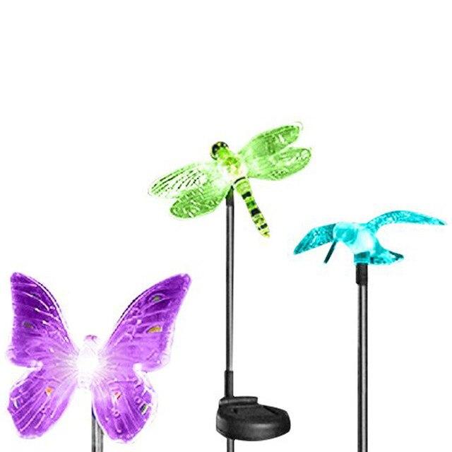 5 Packs Outdoor Garden Lights Solar LED Color Change Path Lawn Landscape  Stainless Steel Spot Post