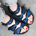 2017 Summer women's sweet sandals ladies flat black simple and lovely girl outdoor beach shoes large big size 42 43 Rome