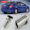 Tommia высокое качество T304 Нержавеющая сталь глушитель наконечник для Honda City 09-14