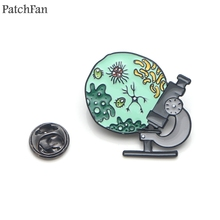 Patchfan Medical supplies Microscope Zinc Pins for men women Shirt Charm insignia Clothes backpack medal Badges Brooches A1861