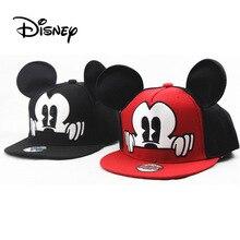 Disney детская Микки Мышь шляпа с Микки Маусом уши малыша хип-хоп шляпа для мальчиков и девочек для детей в возрасте 3-8 костюмы аксессуары Кепки