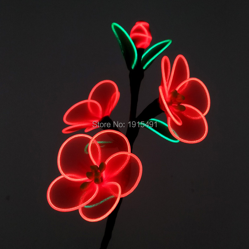 As Holiday Lights EL Cable Rope Plum Blossom Festival Gala Show Decor Neon Led Thanksgiving Gift Flower for Rave Costume Party