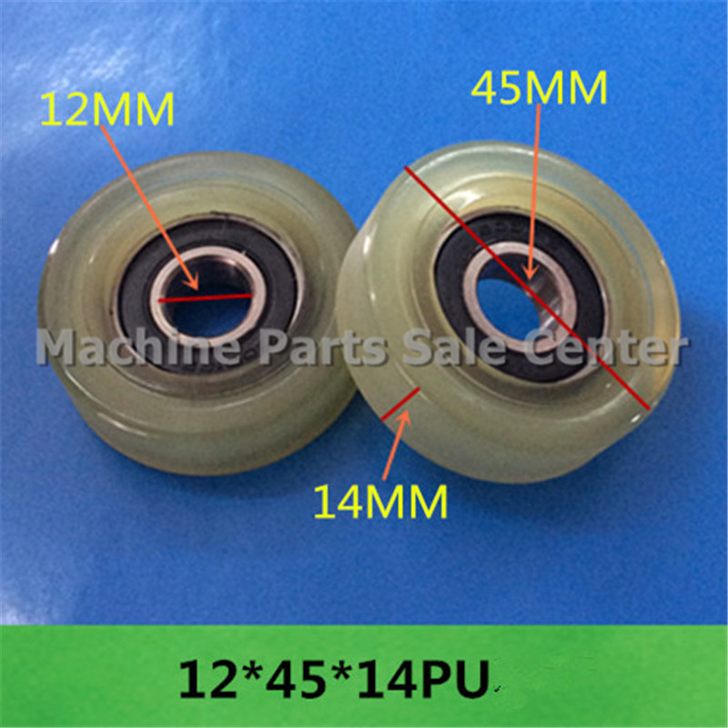 SWMAKER Free shipping 12*45*14 mm F type idler pulley ball bearings bearing 626 POM flat slide wheel Good Quality