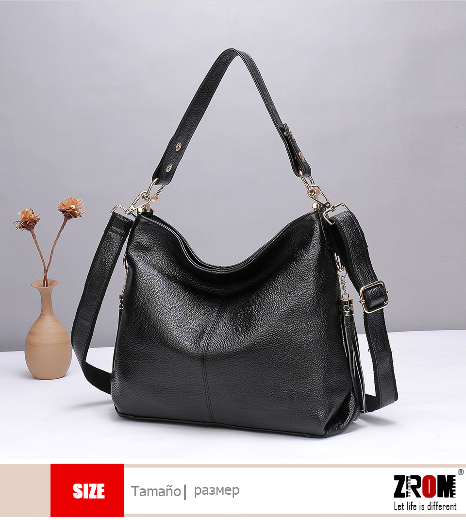 Casual Female Genuine Leather Handbags Large Capacity Tote Bag