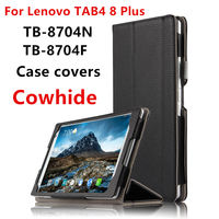 Case Cowhide For Lenovo Tab4 8 Plus Protective Smart Cover Genuine Leather Tablet Tab48plus 8 TB