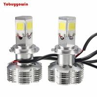 New 2x PX26D H7 Turbo Automotive LED Headlight Kit Bulbs 120W 12000LM 6000K White Light HID