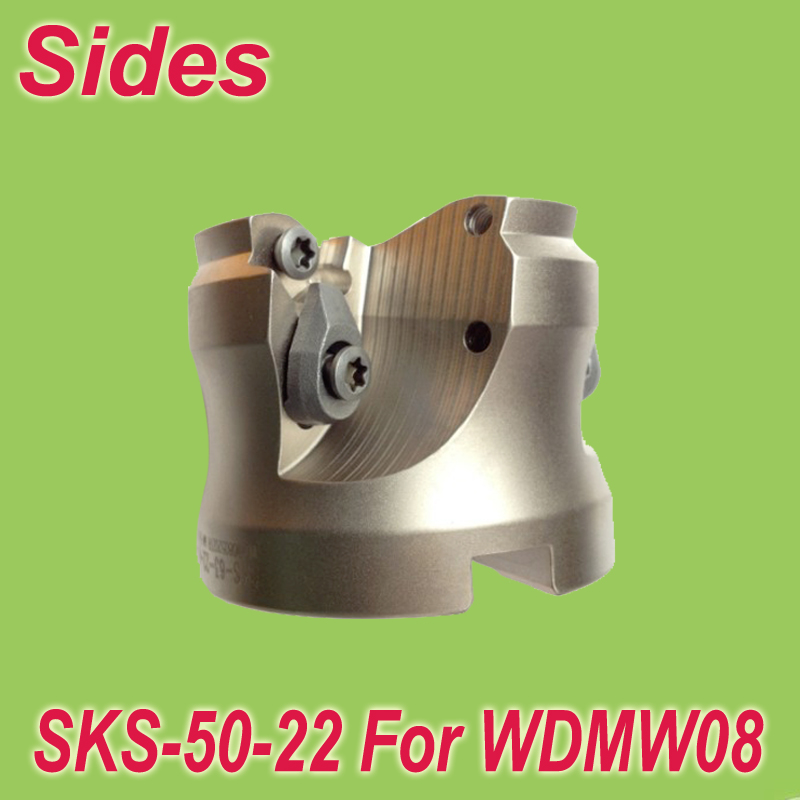 Free Shiping SKS -50-22-4T 2'' Inserted Shoulder Cutter Facemill 50mm for For Dijet WDMW080520