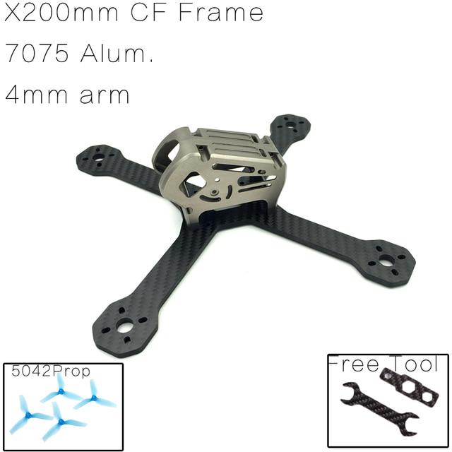 Turbo ix5 200 200mm w/7075 ałunu powłoki kompatybilny foxeer 1177,1190, runcam swift aparat dla fpv quadcopter rama drone