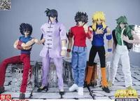 In Stock Jacksdo Saint Seiya Myth Cloth Draco Shiryu Dragon Andromedae Shun Cygnus Ikki Action figure Toy Model With 1/6 Arena