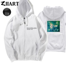 Dandelion Seeds Freedom life Taraxacum Green plant Boys Man Full Zip Fleece Hoodie Couple Clothes ZIIART цена и фото