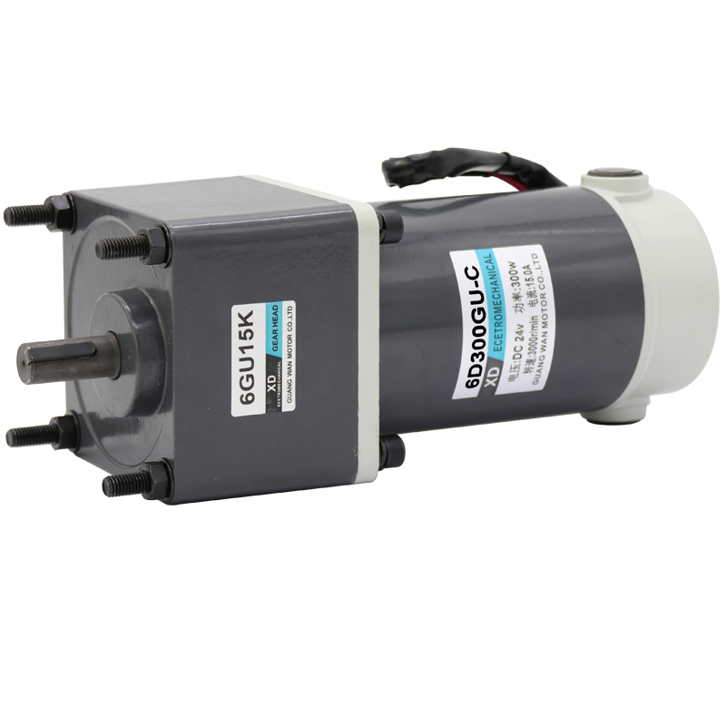 DC speed control motor, 300W speed motor, 6D300GU-C 12V24v high torque CW/CCW brush motor