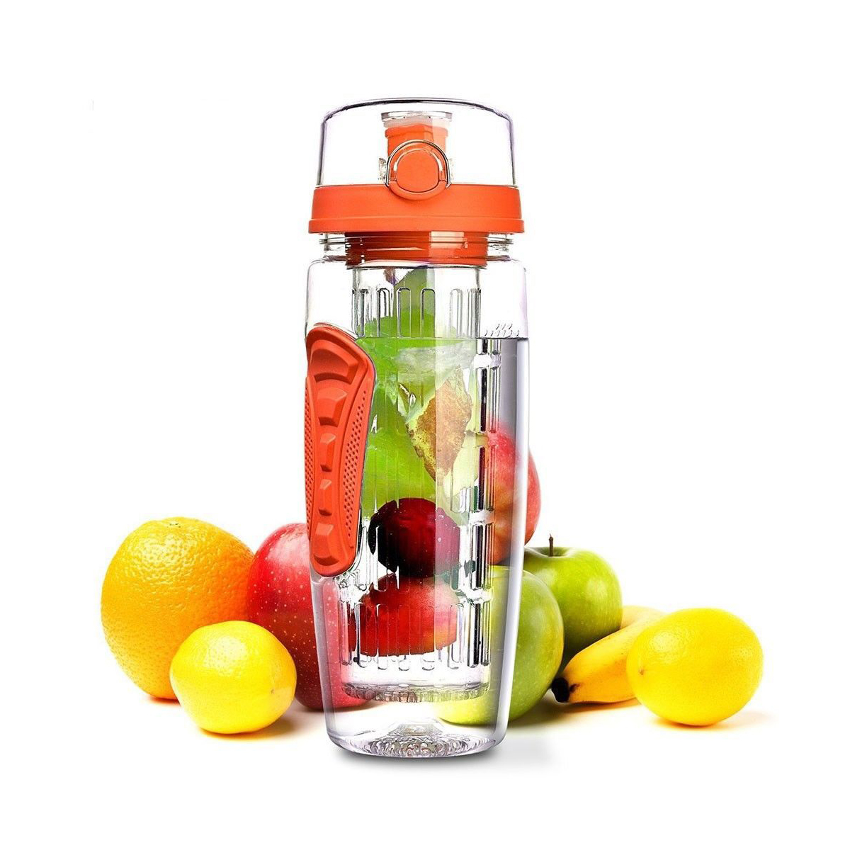 1000ml Plastic Fruit Infuser Juice Shaker Sports Lemon Water Bottles Tour Hiking Portable Climbing Bottles-in Water Bottles from Home & Garden on AliExpress