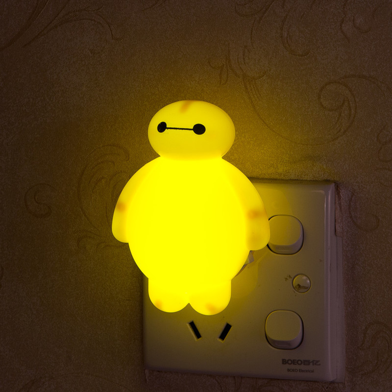 Novelty Night Light Baymax Big Hero 3W luminaria White Green Red Color lava lamp for children Bedroom Decorate luminaria de mesa white rotating rechargeable led talbe lamp usb micro charging eye protection night light dimmerable bedsides luminaria de mesa