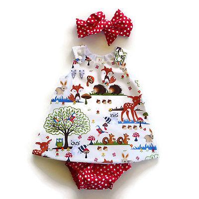 3PCS-Infant-Toddler-Kids-Baby-Girl-Clothes-Top-DressShort-PantsHeadband-Outfits-Set-2