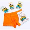 2016 Nuevos Muchachos de la Llegada Escritos Bebé ropa Interior Para Niños Bebé Niños de Dibujos Animados Transpirable Calzoncillos de Algodón Ropa Interior para Niños 4 unids