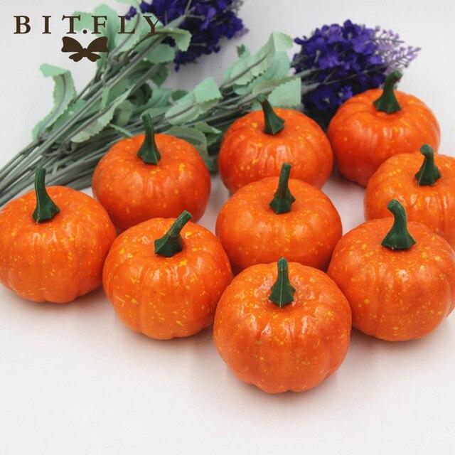 BITFLY 16 Pièces Mini Artificielle Fausse Mousse Citrouille Pour  Thanksgiving Automne Halloween Table Vase Remplisseur Pièce
