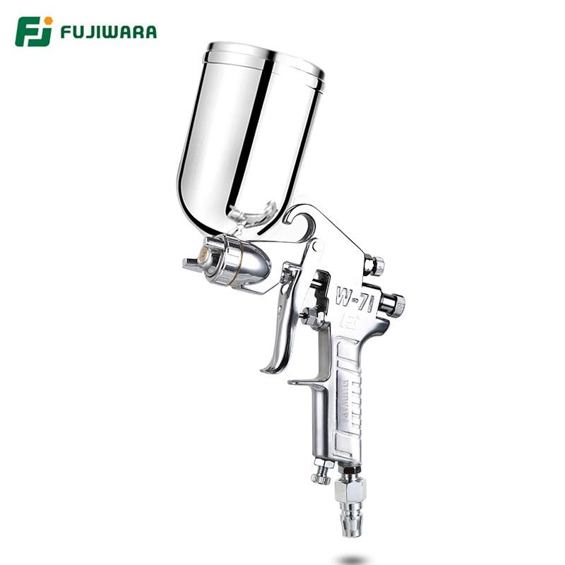 FUJIWARA W71C Pneumático Laca Spray Bico 1.5 milímetros Arma Alta Atomização Pistola de Pintura do Tipo Clássico de Grande Capacidade 400 ml/ 600ml