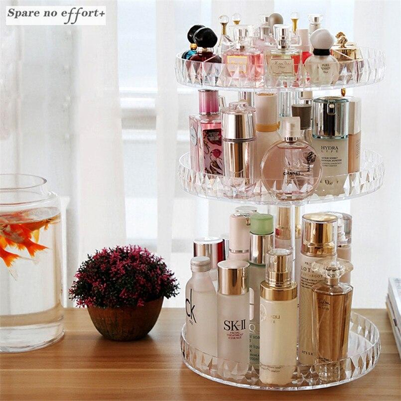 Cosmetic Storage Box Transparent Makeup Rack Acrylic Rotation Drawer Organizer Storage Shelf Desktop Diamond Painting